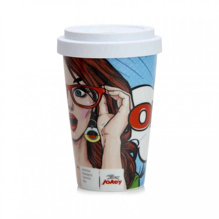 "Porzellan Coffee to Go Becher ""OMG"""